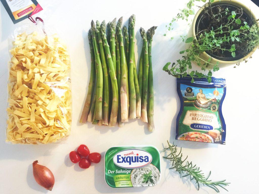 Rezept Bandnudeln in Frischkäse Sauce Zutaten www.mesupermom.de