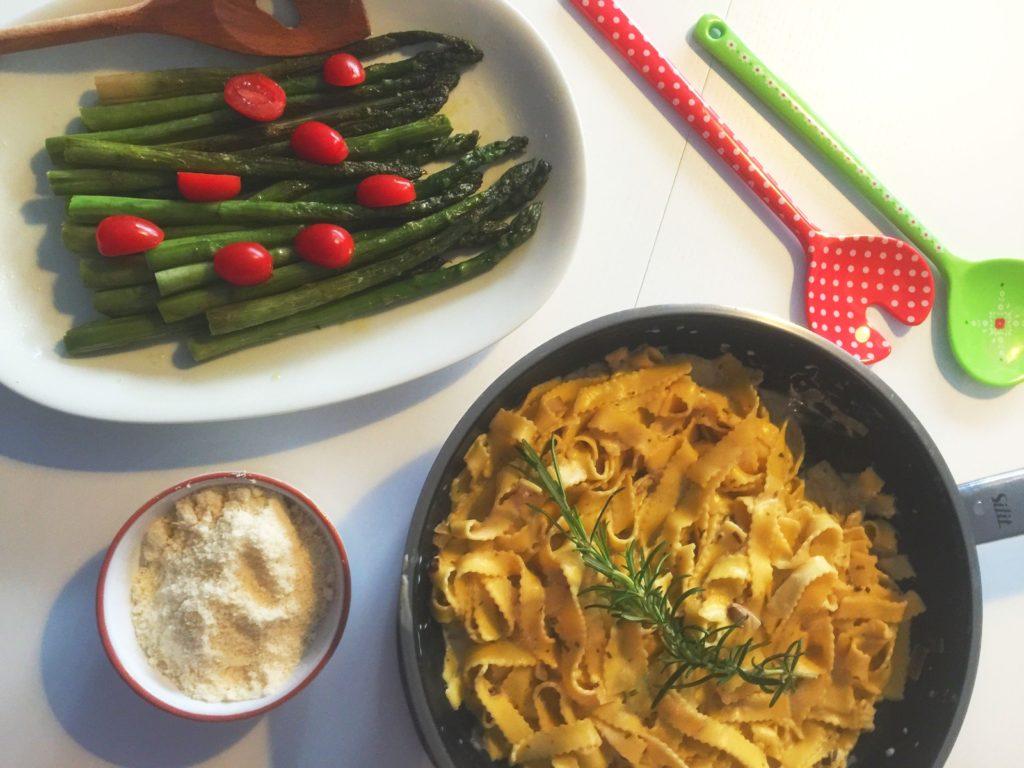 Rezept Bandnudeln in Frischkäse Sauce www.mesupermom.de
