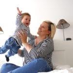 Partneroutfit Streifen Flieg Baby Zalon www.mesupermom.de