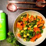 Papaya Avocado Koriander Salat fertig www.mesupermom.de