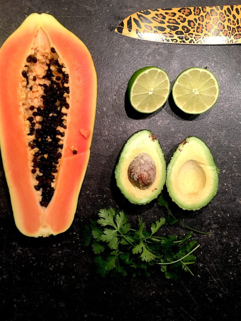 Papaya Avocado Koriander Salat www.mesupermom.de