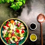 Pfirsich Caprese Salat www.mesupermom.de