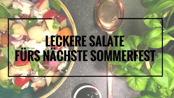 Leckere Salate für´s nächste Grillbuffet plus Pizzabrot für Alle
