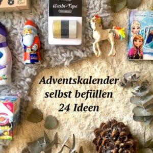 Adventskalender selbst befüllen // 24 Geschenkideen
