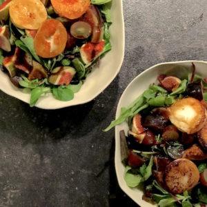 Rezept: Herbstlicher Salat mit Feigen und Ziegenkäse