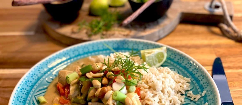 Rezept Cremiges Curry mit Mango und Mandelmus