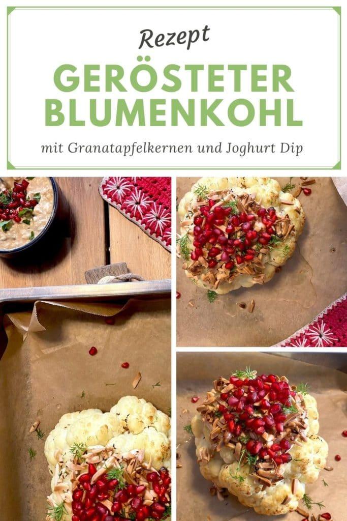 Rezept_Gebackener Blumenkohl_Geroestet_Granatapfel_Mamablog